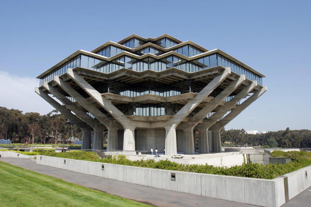 University Of California, San Diego, Geisel Library,  La Jolla, California (SD) : Stock Photo