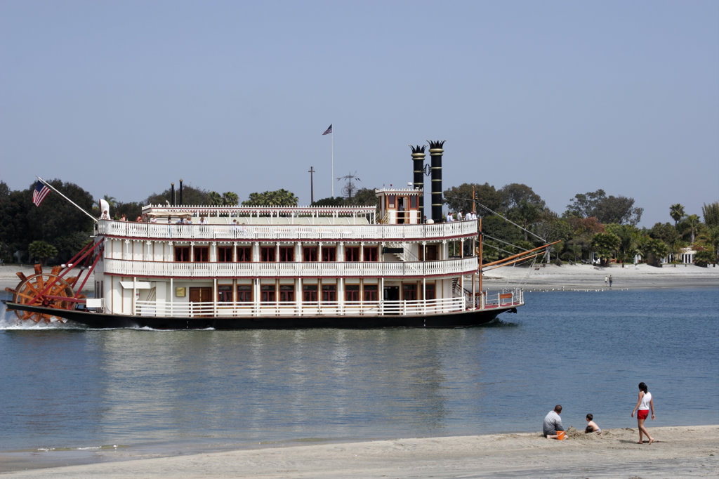 Riverboat, Mission Bay, San Diego, California (SD) : Stock Photo