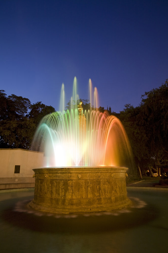 Electric Fountain, Built 1930, Beverly Hills, Los Angeles, California, USA : Stock Photo