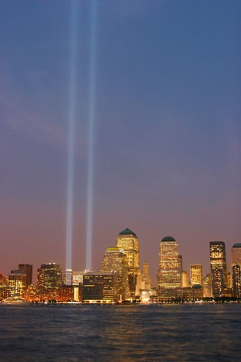 World Trade Center Phantom Towers Memorial, Manhattan, New York : Stock Photo