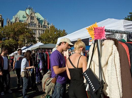The Brooklyn Flea Market in Fort Greene : Stock Photo