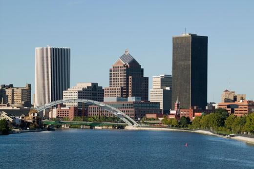 Skyline of Rochester New York : Stock Photo