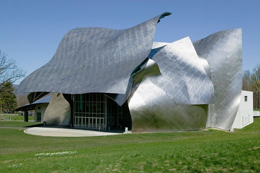 Frank Gehry designed Fisher Center for the Performing Arts Bard College Annandale oin Hudson New York : Stock Photo