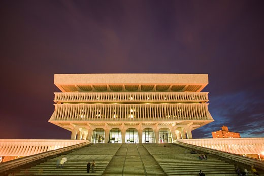 New York State Cultural Education Center on Empire Plaza in Albany NY includes the state museum, library and archives : Stock Photo