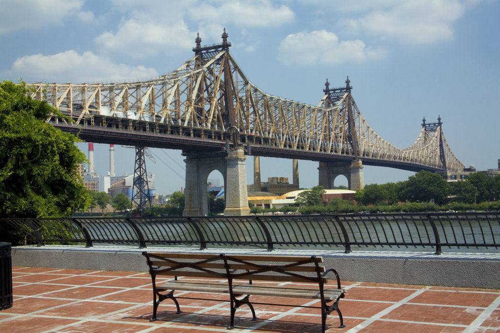 Stock Photo: 4055-4431 Queensboro Bridge, Sutton Place Park, Wild Boar statue, which is a replica of the bronze wild boar completed in 1634 by Renaissance sculptor Pietro Tacca (1557–1640) that stands in Florence, Italy, Manhattan, New York