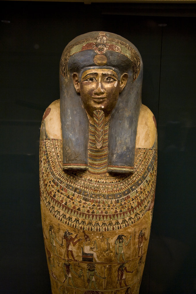 Egyptian Mummies, Metropolitan Museum of Art, Manhattan, New York : Stock Photo