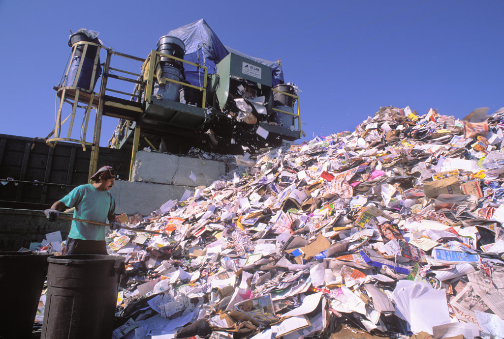 Recycling Center, Santa Monica, Los Angeles, California (LA) : Stock Photo