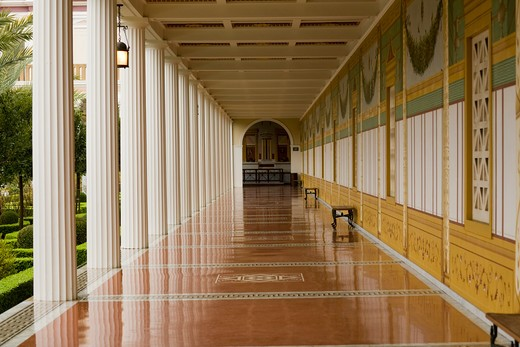 The Getty Villa (J. Paul Getty Museum), Malibu, California, United States of America : Stock Photo