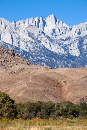Mount Whitney (Tallest Peak in Lower 48 States), Lone Pine, California : Stock Photo