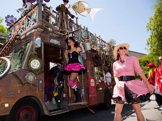 The Doo Dah Parade, Pasadena, California, USA : Stock Photo