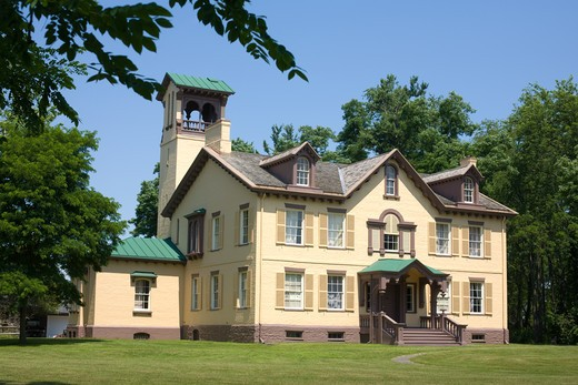 Eighth USA President Martin Van Buren built Lindenwald after his presidency, Kinderhook, Columbia County, New York State : Stock Photo