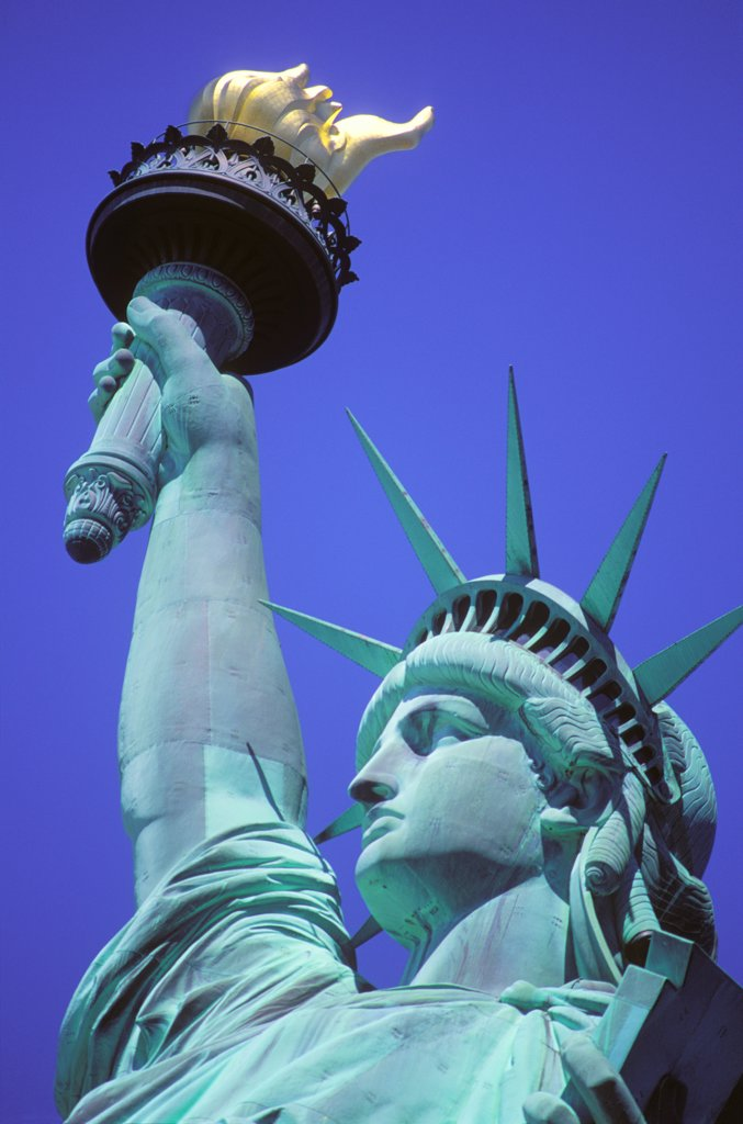 Statue of Liberty, Close-up, New York : Stock Photo