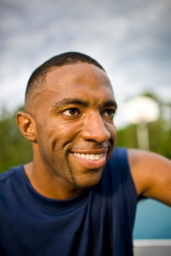 Stock Photo: 4061R-243A Young man smiling