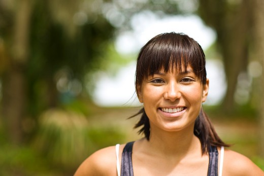 Stock Photo: 4061R-250A Portrait of a young woman smiling
