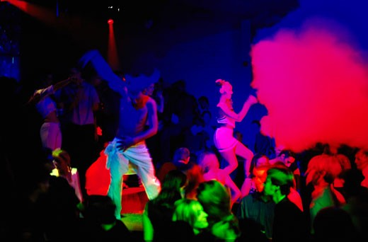 Stock Photo: 4062-1083 Clubbers dancing; 2000's