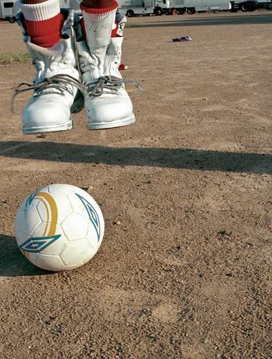 Stock Photo: 4062-2147 Football boots; UK 2005