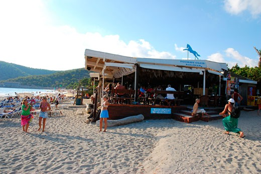 The Jockey Club bar, Las Salinas beach, Ibiza 2006 : Stock Photo