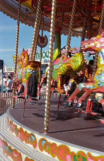 Stock Photo: 4062-4028 A fair ground ride in Brighton, UK, 2000's