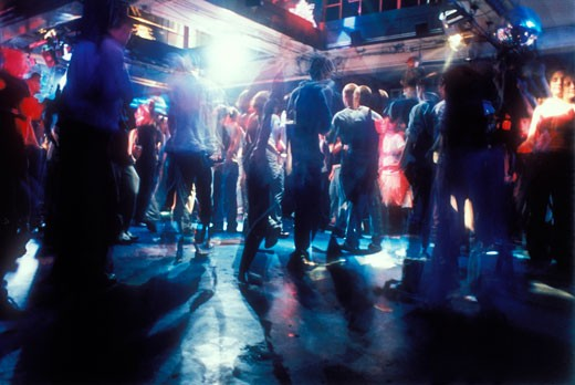 Dance floor, Power bar, Toronto, Canada, 1997 : Stock Photo