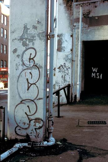 Graffiti art/tags, UK, 2000's : Stock Photo