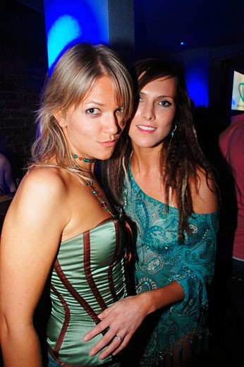 Two sexy women at Ministry of Sound, London, UK 2005 : Stock Photo