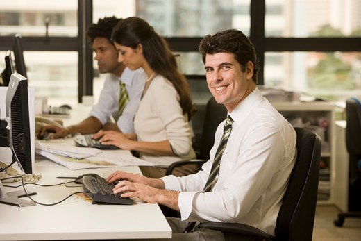 Stock Photo: 4064-132B Businessman working in an office