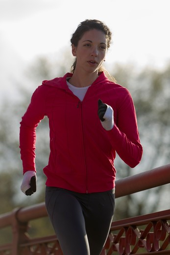 Stock Photo: 4064R-474 Woman jogging