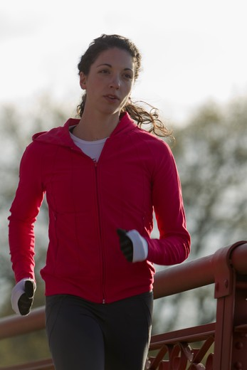 Stock Photo: 4064R-475 Woman jogging