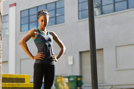 Stock Photo: 4064R-490 Portrait of woman in workout wear