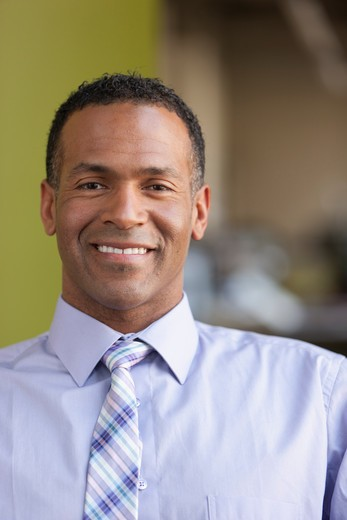 Stock Photo: 4064R-654 Portrait of smiling businessman