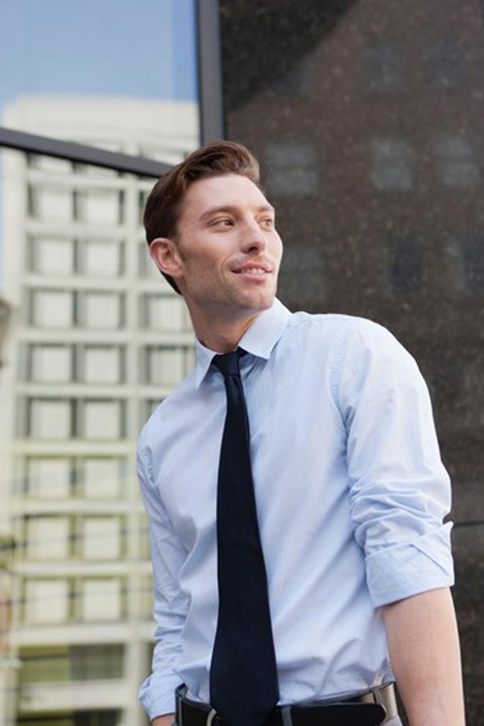 Outdoor portrait of businessman : Stock Photo