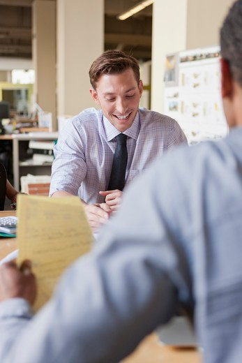 Stock Photo: 4064R-723 Businessman working on project at office