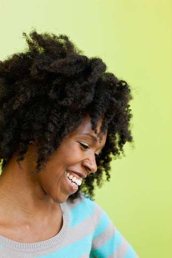Stock Photo: 4064R-820 Portrait of cheerful mid adult woman
