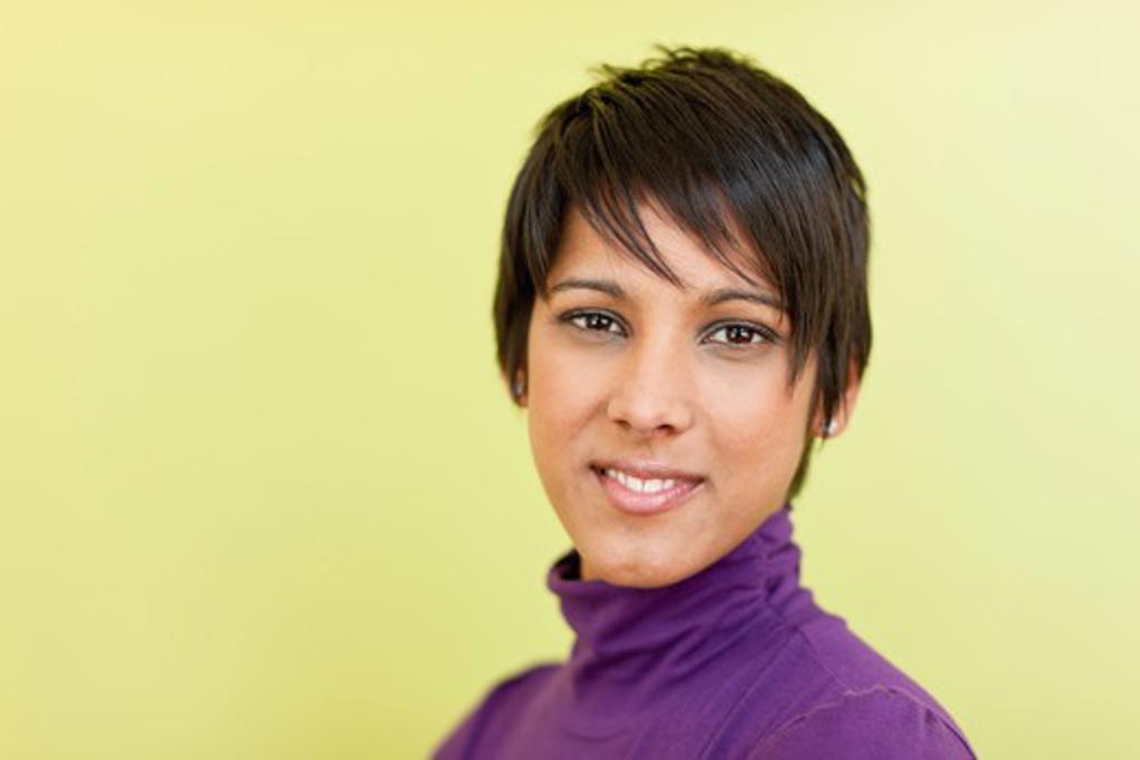 Stock Photo: 4064R-840 Portrait of happy businesswoman