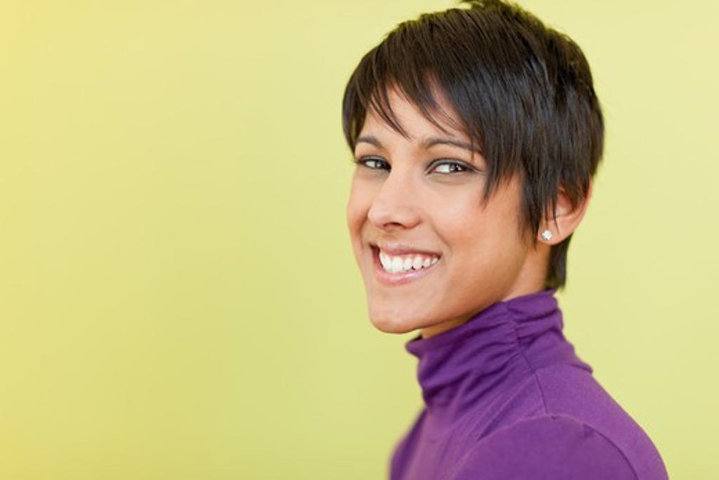 Stock Photo: 4064R-841 Portrait of happy businesswoman