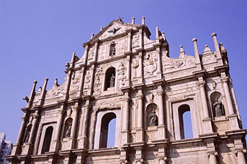 Stock Photo: 4065-11022 China, Macau, facade of the Ruinas da Sao Paulo
