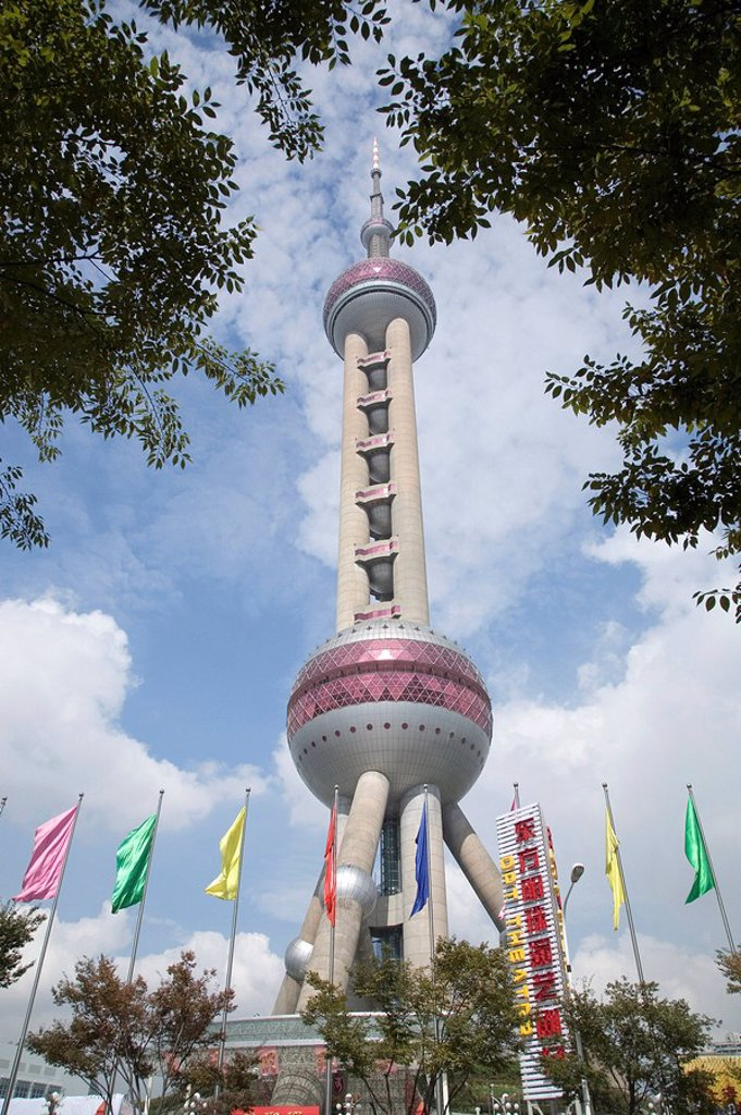 Stock Photo: 4065-11955 Oriental Pearl TV Tower, Pudong , Shanghai, P. R. China