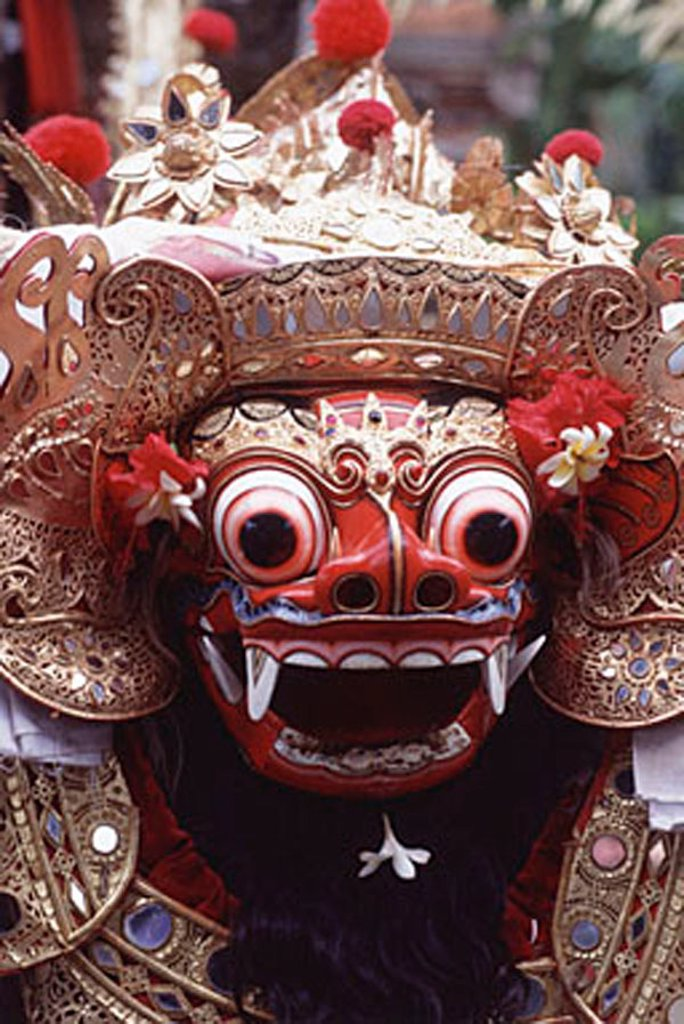 Indonesia, Bali, Mask used in theatrical, ceremonial performances. : Stock Photo