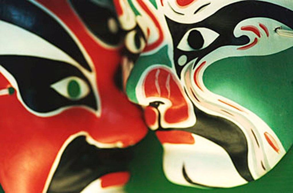 Close-up of Chinese masks : Stock Photo