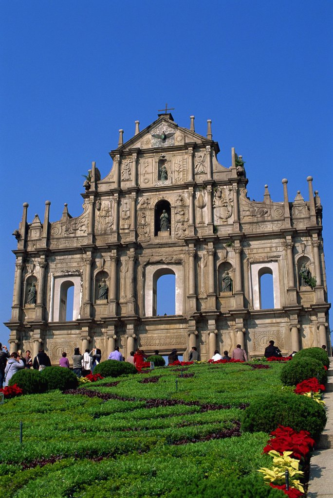 China,Macau,Ruins of St.Paul´s Church : Stock Photo