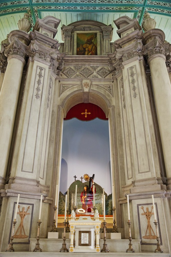 St.Augustine´s Church,Statue of Bom Jesus dos Passos, Macau, China : Stock Photo