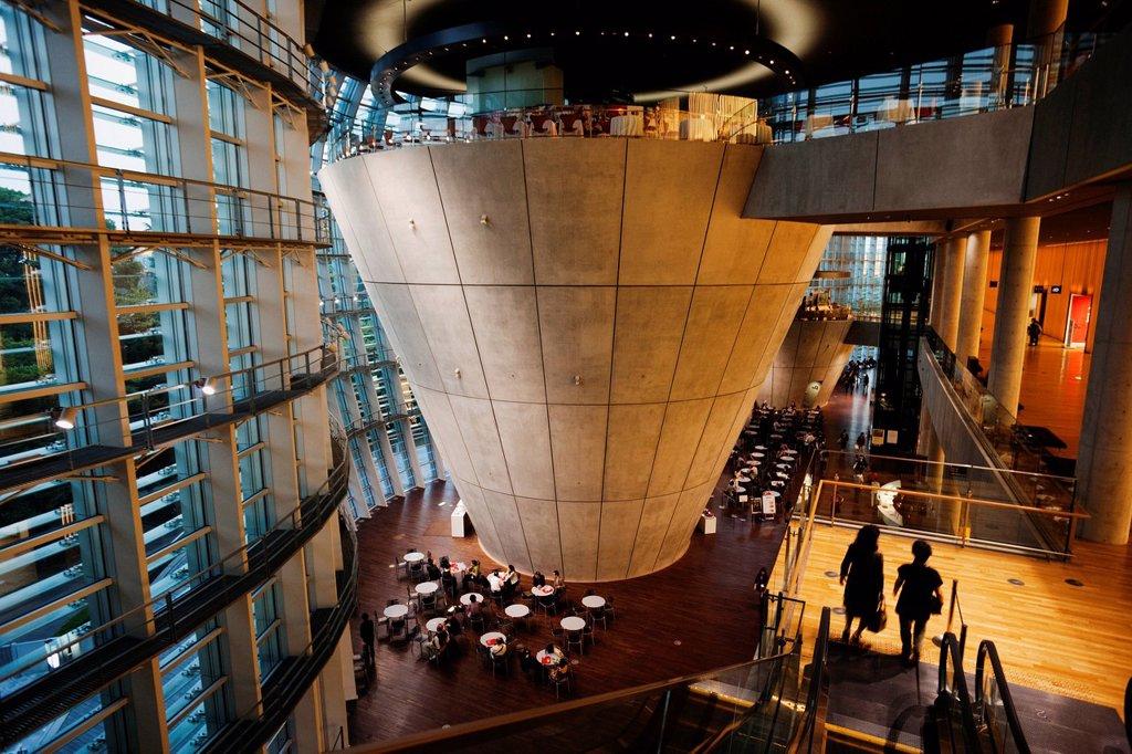 Stock Photo: 4065-22052 The National Art Center, Kisho Kurokawa Architect, Tokyo, Japan