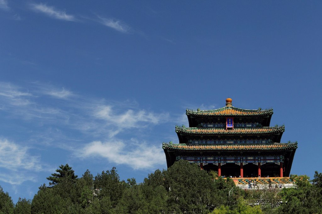 Pavilion at Jingshan Park, Beijing, China : Stock Photo