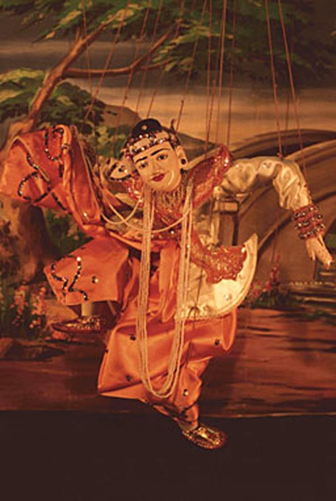 Stock Photo: 4065-2333 Myanmar (Burma), Mandalay, Marionette puppet performance.