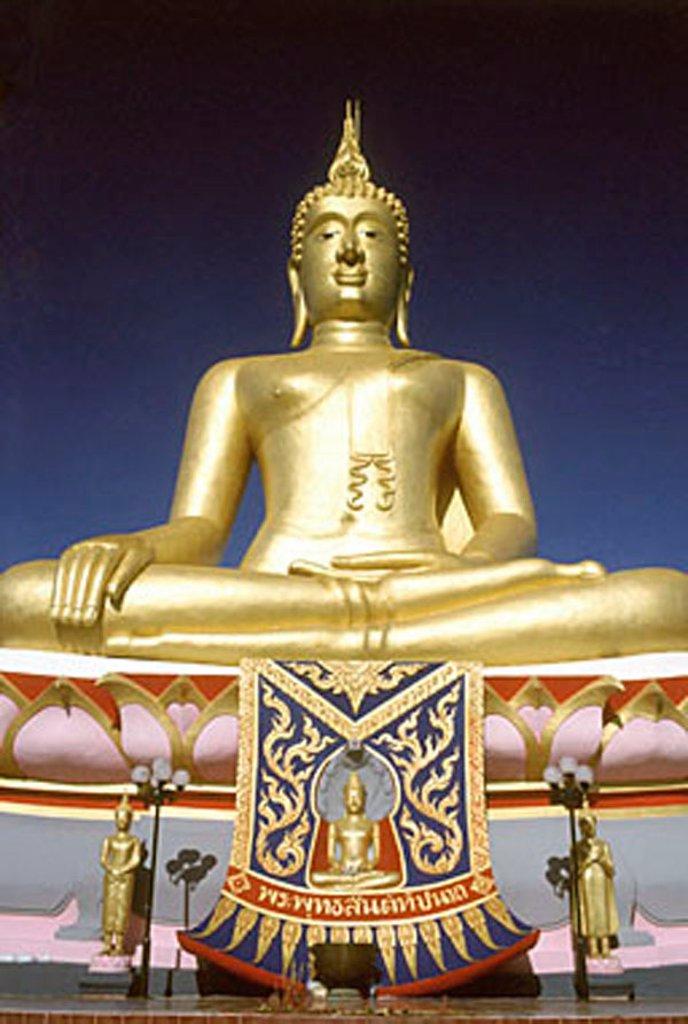 Thailand, Ko Samui, Golden Buddha. : Stock Photo