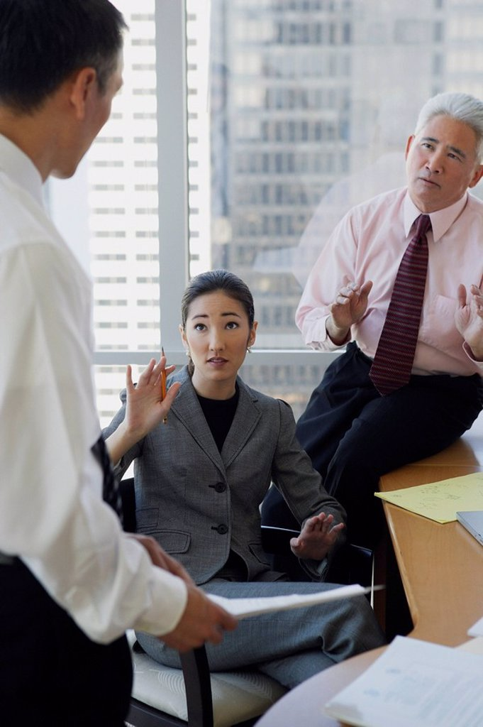 Stock Photo: 4065-7613 business associates talking