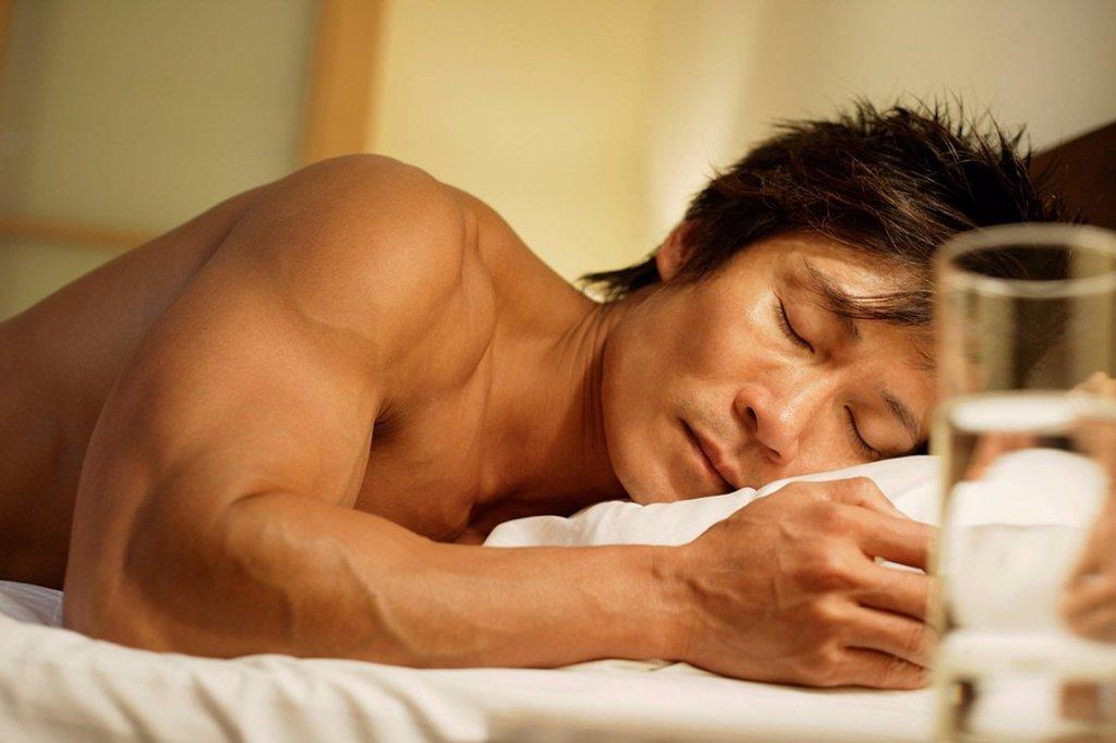 Sleeping man : Stock Photo