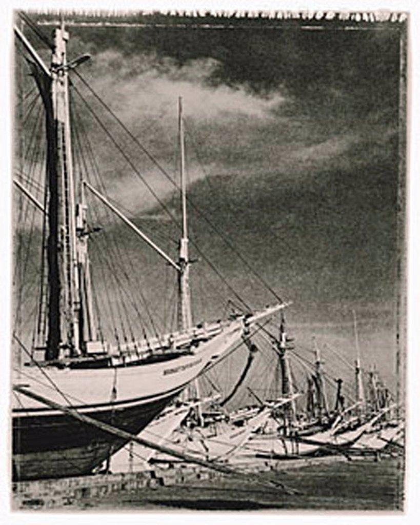 Stock Photo: 4065-9073 Indonesia, Jakarta, Pinisi schooners at Sunda Kelapa port. artistic grain