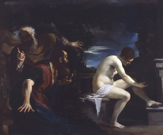 Susanna and the Elders, 1617 : Stock Photo