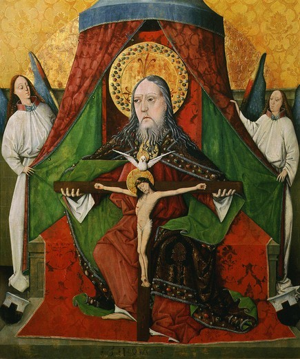 Stock Photo: 4069-1101 The Trinity, 1471, tempera on wood